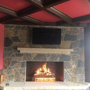 Masonry wood fireplaces gas logs for Isokern fireplace inserts