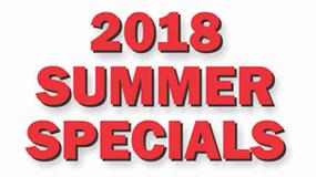 2018 Summer Specials
